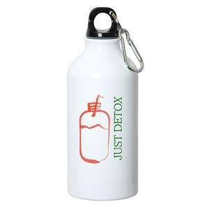 500 ml (17 fl. oz.) ALUMINUM WATER BOTTLE WITH CARABINER