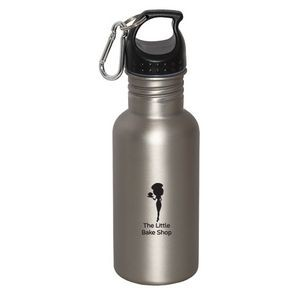 WIDE MOUTH 500 ml (17 fl. oz.) STAINLESS STEEL WATER BOTTLE
