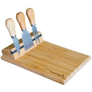 Bamboo Cheese Board With Utensils